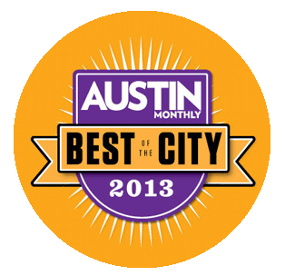 Austin Monthly Best of the City 2013 award